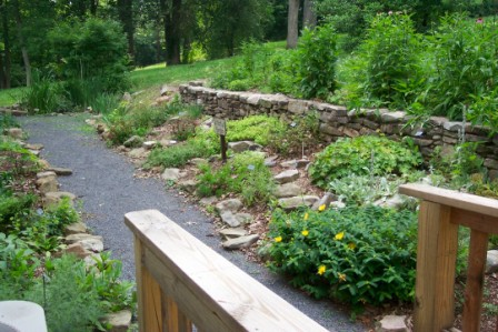 Nature Center herb garden