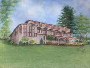 Artist's rendition of the expanded Nature Center, courtesy of Carolyn Hanlon